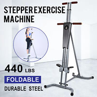 New Maxi Climber Vertical Stepper Exercise Fitness Monitor & Manual Sealed Gym