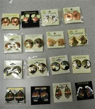 WHOLESALE CLEARANCE-25 CLOISONNE CLIP EARRINGS-ORCHID,BUTTERFLY,CAT & MORE-NEW