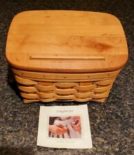 New ListingLongaberger Large Recipe Basket with Lid 2004