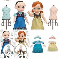 Disney Store Animators Collection Anna & Elsa Frozen Dolls Deluxe Gift Set 16 in