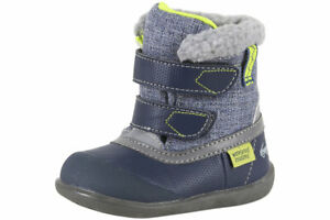 See Kai Run Toddler Boy's Charlie WP/IN Navy Insulated Winter Boots Shoes Sz: 6T