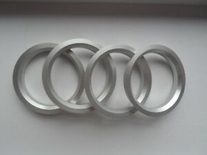 (4) Aluminum Hubrings | 74.1mm Wheels to 64.1mm Car Hub (Hub centric rings)