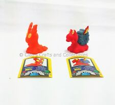 Slugma & Magcargo Bandai Pokemon Figures Finger Puppets 2004 Japanese w/Sticker!