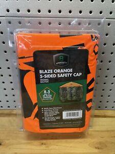 BA704 5 Sided Blind OX Solid Blaze Orange Safety Cap For Hub Blinds