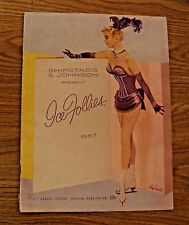 VINTAGE 1957 SHIPSTADS & JOHNSON ICE FOLLIES OFFICIAL PUBLICATION SPORTS PROGRAM