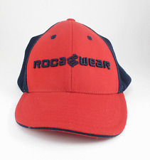 Roca Wear Red  Navy Blue Elastic Band Ball Cap Hat One Size