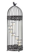 HOME LIGHTING DECOR BIRD CAGE STAIRCASE CANDLE STAND