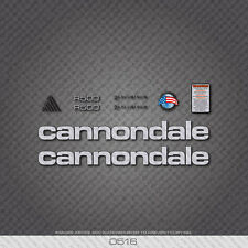0516 Silver Cannondale R500 Bicycle Stickers - Decals - Transfers