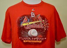 St Louis Cardinals 2011 World Series Champions t-shirt red XL MLB baseball