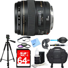 Canon EF 85mm f/1.8 USM Medium Telephoto Lens Deluxe Accessory Bundle