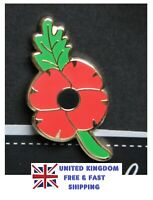 2020 UK Veteran Day Red Poppy Remembrance World War 1 2 Peace Pin Badge Brooch