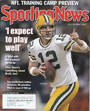 AARON RODGERS Sporting News Magazine July 2008 Green Bay Packers NR MT