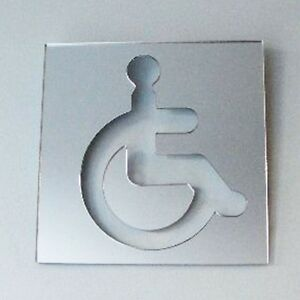 Square Disabled Toilet Sign Acrylic Mirror (Several Sizes Available)