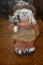 """Autumn Greetings"" standing stuffed scarecrow - Fb4"