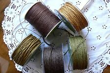 BROWN/OLIVE&GOLD Burlap&String2mm 4colours/3,5&10Mtrs&1mmx22mtrs=55mtrs MayArts