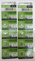 10x Maxwell SR616SW/321 Button Coin Cell Silver Oxide Battery Au Stock Fast Post