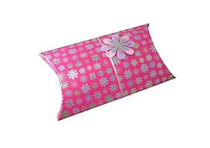 Pink Holographic Glitter Present Box Gift Tag Pop-Up Pillow Bag Birthday etc
