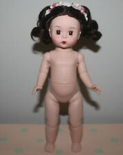 "New Listing8"" Madame Alexander Ma Nude Dress Me Articulated Doll Flowers Dark Brunette Flaw"