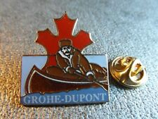 RARE PINS PIN'S - GROHE DUPONT - CANADA - CANOE KAYAK - SPORT - TRAPPEUR - EGF