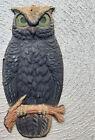 Germany Antique Embossed Die Cut Black Owl 8.5Tall, 4 Wide. 1920s 30s Rare!