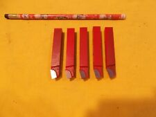 5 pc LOT of NEW CEMENTED CARBIDE LATHE TURNING TOOL BITS cutting cutter 7/16