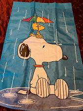 43� X 28� Snoopy Woodstock Peanuts Flag Rain Umbrella Appliqué