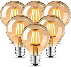 6x Edison Vintage Bulb LED Lamp Warm White E27 Retro Bulbs Nostalgia A60