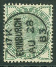 SG 164 ½d deep green. Very fine used with an Edinburgh CDS, Aug 28th 1883