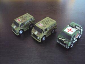 Lot of 3 different Micro Machines '70s Van Ambulance