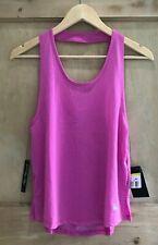 Nike Atmen Miler Running Tank Top Größe S 8 10 Pink Bnwt