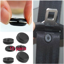 10Pair Black Clip Seat Belt Stopper Buckle Button Kit Fastener Safety Car Part