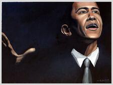 Barack Obama Portrait 1, Original Oil Painting, Signed, 24x18