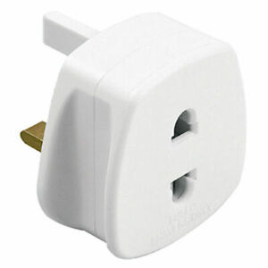 UK 1A Electric Shaver Plug Adaptor Oral-B Toothbrush 2 To 3-Pin Converter