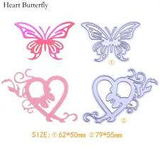 2pcs Heart Butterfly Cut Die Stencils Scrapbook Embossing DIY Cutting Dies Card
