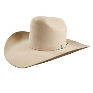 """Resistol 6X Buckskin Midnight Cowboy Hat 4"""" Brim 4 5/8"""" Cattleman Crown"""