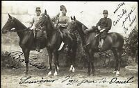 CAVALRY WW1 CORPS HUSSAR WARHORSES DOLMEN RPPC PHOTO PC POSTCARD