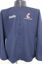 USA OLYMPIC TEAM 2002 US PARALYMPICS Varsity Style ROOTS Wool Leather JACKET XL