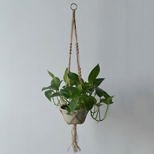 New Plant Hanger Vintage Hemp Rope Braided Flowerpot Pot Holder Hanging Basket