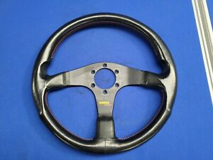 Momo Corse Steering Wheel Leather with Red Stitching - KBA 70116/Type D35