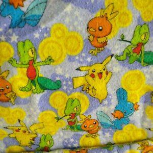 Vintage Pokemon Blanket With Pocket Handmade For Child Baby Nursery 90s 71 x 41