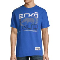NWT ECKO UNLTD. RHINO AUTHENTIC SHORT SLEEVE LOGO GRAPHIC BLUE T-SHIRT SIZE M