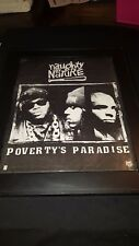 Naughty By Nature Poverty's Paradise Rare Original Promo Poster Ad Framed!