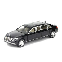 1:24 Mercedes Maybach S600 Limousine Car Model Toy Vehicle Alloy Diecast Black