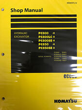 Komatsu PC800-8 PC800LC-8 PC800SE-8 PC850-8 PC850SE-8 Service Repair Printed Man