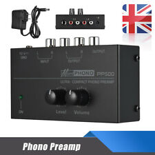 Ultra-compact Phono Preamp Level & Volume Controls RCA Input & Output DC 12V UK