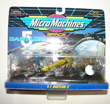 Micro Machines Galoob Babylon 5 set 1 MIP  MOC sci fo TV   616