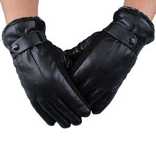 Men Warm Soft Cashmere Leather Male Winter Waterproof Gloves Driving #1 T1