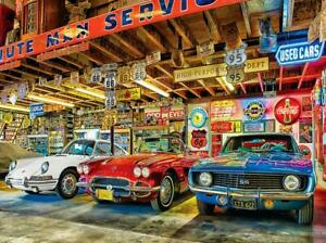 Deluxe Jigsaw Puzzle 1000 Piece Beat-up Cars Garage Used Cars Market