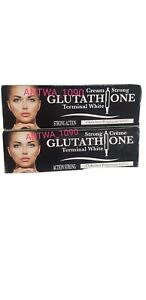 2x TERMINAL WHITE GLUTATHIONE INJECTION STRONG CRÈME TUBE