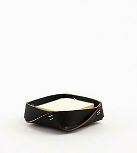 Amazing Designed Ruca Recycled Black Leather Note Tray, Argentina (#AR2145)